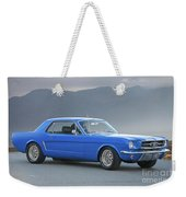 1965 Ford Mustang 'blue Coupe' I Weekender Tote Bag