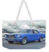 1965 Ford Mustang 'blue Coupe' IIa Weekender Tote Bag