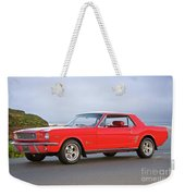 1965 Ford Mustang 'red Coupe' I Weekender Tote Bag