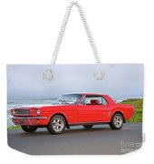 1965 Ford Mustang 'red Coupe' II Weekender Tote Bag