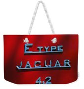 1965 Jaguar E Type Emblem Weekender Tote Bag