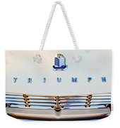 1965 Triumph Tr-4 Hood Ornament Weekender Tote Bag