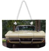 1965 Yellow Corvette Sting Ray  Weekender Tote Bag