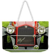 1966 Alfa Romeo Quattro Route 4r Grille Weekender Tote Bag by Jill Reger