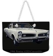 1966 Pontiac Gto Convertible Weekender Tote Bag