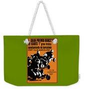1967 Barcelona Kart Racing Poster Weekender Tote Bag