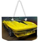 1967 Chevy Corvette Convertible Weekender Tote Bag