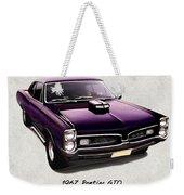 1967 Purple Pontiac Gto Weekender Tote Bag