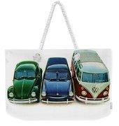 1967 Volkswagen Beetle Squareback And The Box Weekender Tote Bag