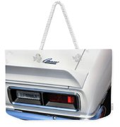 1968 Chevy - Chevrolet Camaro Tail Lights And Logo Weekender Tote Bag