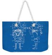 1968 Hard Space Suit Patent Artwork - Blueprint Weekender Tote Bag by Nikki Marie Smith