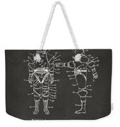 1968 Hard Space Suit Patent Artwork - Gray Weekender Tote Bag by Nikki Marie Smith