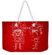 1968 Hard Space Suit Patent Artwork - Red Weekender Tote Bag