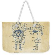1968 Hard Space Suit Patent Artwork - Vintage Weekender Tote Bag