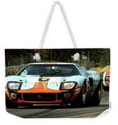 1969 24 Hours Of Le Mans Ford Gt40 First Place, Mixed Media  Weekender Tote Bag