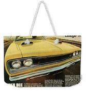 1969 Dodge Coronet Super Bee Weekender Tote Bag