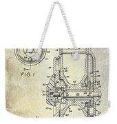 1969 Fly Reel Patent Weekender Tote Bag