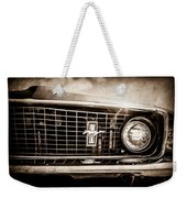 1969 Ford Mustang Grille Emblem -0129s Weekender Tote Bag