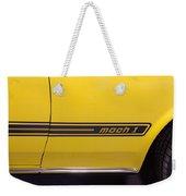 1969 Ford Mustang Mach 1 Logo Weekender Tote Bag
