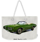 1969 Green Pontiac Gto Convertible Weekender Tote Bag