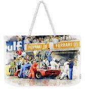 1969 Le Mans 24 Ferrari 312p Pedro Rodriguez  David Piper Weekender Tote Bag