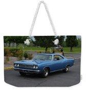 1969 Plymouth Roadrunner Green Weekender Tote Bag