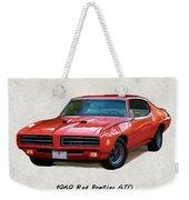 1969 Red Pontiac Gto The Judge Weekender Tote Bag