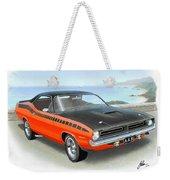 1970 Barracuda Aar  Cuda Classic Muscle Car Weekender Tote Bag