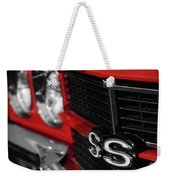 1970 Chevelle Ss396 Ss 396 Red Weekender Tote Bag
