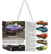 1970 Dodge Challenger Weekender Tote Bag