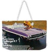 1970 Dodge Challenger Rt Convertible Weekender Tote Bag