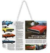 1970 Dodge Charger Weekender Tote Bag