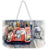 1970 Le Mans 24 Porsche917k Attwood Herrmann Winner  Weekender Tote Bag