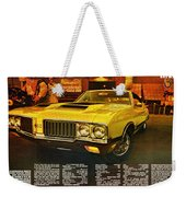 1970 Oldsmobile Cutlass 442 W-30 Weekender Tote Bag