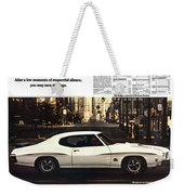1970 Pontiac Gto The Judge  Weekender Tote Bag