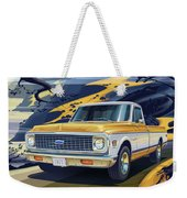 1971 Chevrolet C10 Cheyenne Fleetside 2wd Pickup Weekender Tote Bag