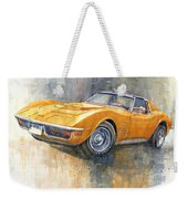 1971 Chevrolet Corvette Lt1 Coupe Weekender Tote Bag
