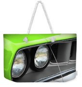 1971 Plymouth Barracuda Cuda Sublime Green Weekender Tote Bag