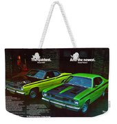 1971 Plymouth Duster 340 And Twister Weekender Tote Bag