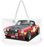 1972 Fiat Abarth 124 Rally Illustration Weekender Tote Bag