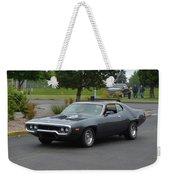1972 Plymouth Roadrunner Grow Weekender Tote Bag
