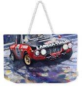 1972 Rallye Monte Carlo Lancia Fulvia 1600hf Munari Mannucci Winner Weekender Tote Bag