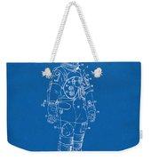 1973 Astronaut Space Suit Patent Artwork - Blueprint Weekender Tote Bag