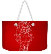 1973 Astronaut Space Suit Patent Artwork - Red Weekender Tote Bag by Nikki Marie Smith