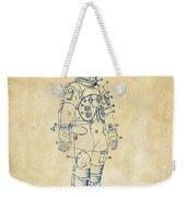 1973 Astronaut Space Suit Patent Artwork - Vintage Weekender Tote Bag