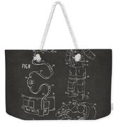 1973 Space Suit Elements Patent Artwork - Gray Weekender Tote Bag by Nikki Marie Smith