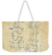 1973 Space Suit Elements Patent Artwork - Vintage Weekender Tote Bag