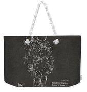 1973 Space Suit Patent Inventors Artwork - Gray Weekender Tote Bag
