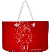 1973 Space Suit Patent Inventors Artwork - Red Weekender Tote Bag