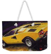 1974 Lamborghini Countach Lp400 Weekender Tote Bag